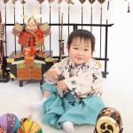 大阪の初節句・ハーフバースディ写真撮影スタジオ・ハニーアンドクランチの和装のフォトギャラリーHW049