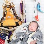 大阪の初節句・ハーフバースディ写真撮影スタジオ・ハニーアンドクランチの和装のフォトギャラリーHW051