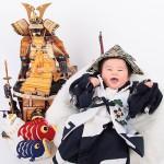 大阪の初節句・ハーフバースディ写真撮影スタジオ・ハニーアンドクランチの和装のフォトギャラリーHW052