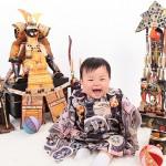 大阪の初節句・ハーフバースディ写真撮影スタジオ・ハニーアンドクランチの和装のフォトギャラリーHW053