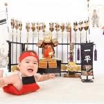 大阪の初節句・ハーフバースディ写真撮影スタジオ・ハニーアンドクランチの和装のフォトギャラリーHW054