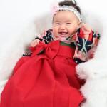 大阪の初節句・ハーフバースディ写真撮影スタジオ・ハニーアンドクランチの和装のフォトギャラリーHW055