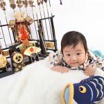 大阪の初節句・ハーフバースディ写真撮影スタジオ・ハニーアンドクランチの和装のフォトギャラリーHW056