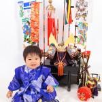 大阪の初節句・ハーフバースディ写真撮影スタジオ・ハニーアンドクランチの和装のフォトギャラリーHW057