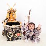 大阪の初節句・ハーフバースディ写真撮影スタジオ・ハニーアンドクランチの和装のフォトギャラリーHW060