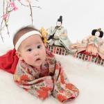 大阪の初節句・ハーフバースディ写真撮影スタジオ・ハニーアンドクランチの和装のフォトギャラリーHW061