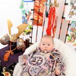 大阪の初節句・ハーフバースディ写真撮影スタジオ・ハニーアンドクランチの和装のフォトギャラリーHW062