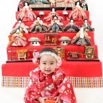 大阪の初節句・ハーフバースディ写真撮影スタジオ・ハニーアンドクランチの和装のフォトギャラリーHW063