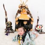 大阪の初節句・ハーフバースディ写真撮影スタジオ・ハニーアンドクランチの和装のフォトギャラリーHW065