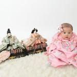 大阪の初節句・ハーフバースディ写真撮影スタジオ・ハニーアンドクランチの和装のフォトギャラリーHW067