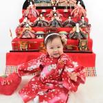 大阪の初節句・ハーフバースディ写真撮影スタジオ・ハニーアンドクランチの和装のフォトギャラリーHW069