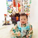 大阪の初節句・ハーフバースディ写真撮影スタジオ・ハニーアンドクランチの和装のフォトギャラリーHW070