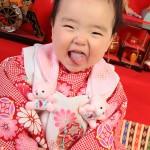 大阪の初節句・ハーフバースディ写真撮影スタジオ・ハニーアンドクランチの和装のフォトギャラリーHW071
