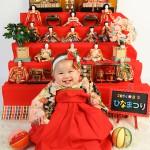 大阪の初節句・ハーフバースディ写真撮影スタジオ・ハニーアンドクランチの和装のフォトギャラリーHW072