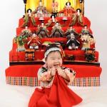 大阪の初節句・ハーフバースディ写真撮影スタジオ・ハニーアンドクランチの和装のフォトギャラリーHW073