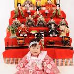 大阪の初節句・ハーフバースディ写真撮影スタジオ・ハニーアンドクランチの和装のフォトギャラリーHW074