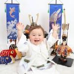大阪の初節句・ハーフバースディ写真撮影スタジオ・ハニーアンドクランチの和装のフォトギャラリーHW080