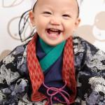 大阪の初節句・ハーフバースディ写真撮影スタジオ・ハニーアンドクランチの和装のフォトギャラリーHW082