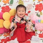 大阪の初節句・ハーフバースディ写真撮影スタジオ・ハニーアンドクランチの和装のフォトギャラリーHW084