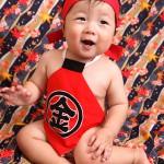 大阪の初節句・ハーフバースディ写真撮影スタジオ・ハニーアンドクランチの和装のフォトギャラリーHW085