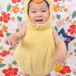 大阪の初節句・ハーフバースディ写真撮影スタジオ・ハニーアンドクランチの洋装のフォトギャラリーH086