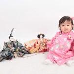 大阪の初節句・ハーフバースディ写真撮影スタジオ・ハニーアンドクランチの和装のフォトギャラリーHW089