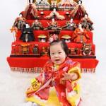 大阪の初節句・ハーフバースディ写真撮影スタジオ・ハニーアンドクランチの和装のフォトギャラリーHW090
