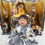 大阪の初節句・ハーフバースディ写真撮影スタジオ・ハニーアンドクランチの和装のフォトギャラリーHW093