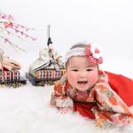 大阪の初節句・ハーフバースディ写真撮影スタジオ・ハニーアンドクランチの和装のフォトギャラリーHW095