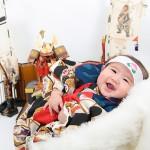 大阪の初節句・ハーフバースディ写真撮影スタジオ・ハニーアンドクランチの和装のフォトギャラリーHW099