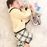 大阪の初節句・ハーフバースディ写真撮影スタジオ・ハニーアンドクランチの洋装のフォトギャラリーH107