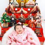 大阪の初節句・ハーフバースディ写真撮影スタジオ・ハニーアンドクランチの和装のフォトギャラリーHW109