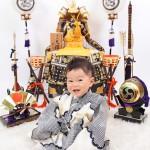 大阪の初節句・ハーフバースディ写真撮影スタジオ・ハニーアンドクランチの和装のフォトギャラリーHW111