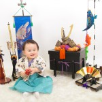 大阪の初節句・ハーフバースディ写真撮影スタジオ・ハニーアンドクランチの和装のフォトギャラリーHW114