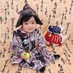 大阪の初節句・ハーフバースディ写真撮影スタジオ・ハニーアンドクランチの和装のフォトギャラリーHW117