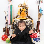 大阪の初節句・ハーフバースディ写真撮影スタジオ・ハニーアンドクランチの和装のフォトギャラリーHW118