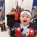 大阪の初節句・ハーフバースディ写真撮影スタジオ・ハニーアンドクランチの和装のフォトギャラリーHW119