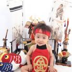 大阪の初節句・ハーフバースディ写真撮影スタジオ・ハニーアンドクランチの和装のフォトギャラリーHW120