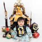 大阪の初節句・ハーフバースディ写真撮影スタジオ・ハニーアンドクランチの和装のフォトギャラリーHW132