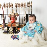 大阪の初節句・ハーフバースディ写真撮影スタジオ・ハニーアンドクランチの和装のフォトギャラリーHW134