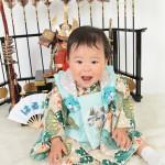 1大阪の初節句・ハーフバースディ写真撮影スタジオ・ハニーアンドクランチの和装のフォトギャラリーHW135