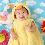 大阪の初節句・ハーフバースディ写真撮影スタジオ・ハニーアンドクランチの洋装のフォトギャラリーH140