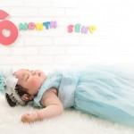 大阪の初節句・ハーフバースディ写真撮影スタジオ・ハニーアンドクランチの洋装のフォトギャラリーH146