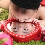 大阪の初節句・ハーフバースディ写真撮影スタジオ・ハニーアンドクランチの洋装のフォトギャラリーH150