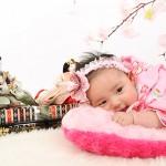 大阪の初節句・ハーフバースディ写真撮影スタジオ・ハニーアンドクランチの和装のフォトギャラリーHW151
