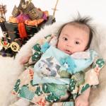 大阪の初節句・ハーフバースディ写真撮影スタジオ・ハニーアンドクランチの和装のフォトギャラリーHW153