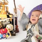 大阪の初節句・ハーフバースディ写真撮影スタジオ・ハニーアンドクランチの和装のフォトギャラリーHW154