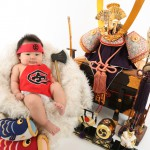 大阪の初節句・ハーフバースディ写真撮影スタジオ・ハニーアンドクランチの和装のフォトギャラリーHW155