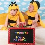 大阪の初節句・ハーフバースディ写真撮影スタジオ・ハニーアンドクランチの洋装のフォトギャラリーH161