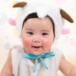 大阪の初節句・ハーフバースディ写真撮影スタジオ・ハニーアンドクランチの洋装のフォトギャラリーH169